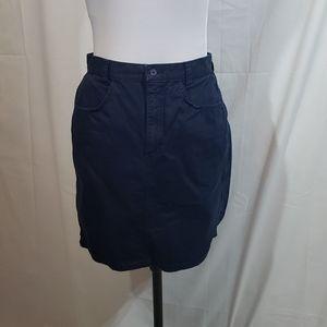 EUC Vintage Benetton Navy Denim Skirt Size 44